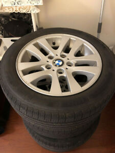 "16"" BMW WHEELS and TIRES ( 1 YEAR OLD)"