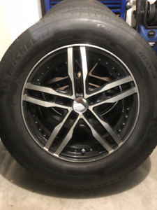 """4 Alloy rims """"Aries""""with tires for Honda Odyssey 2011 - 2016"""