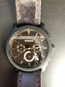 Men's Fossil Watches - Silver, Brown