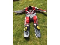 Dainese Carl Fogarty one piece racing leathers