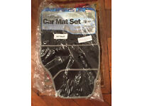 New car mats in black - universal fit