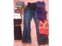 Bundle of 17 maternity clothes size 12-14