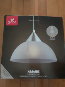 Globe electric plug in light pendant