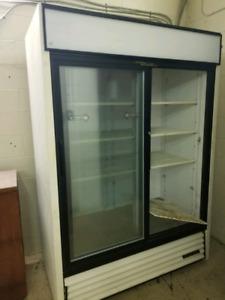 True 2 door sliding commercial fridge.