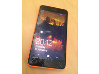 Nokia Lumia 630 with cracked glass