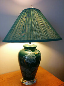 Set of 2 green table lamps Edmonton Edmonton Area image 2