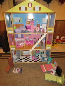 """Huge Dollhouse Complete with Furniture """"4 Feet Tall"""""""