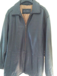Black Leather Winter Jacket