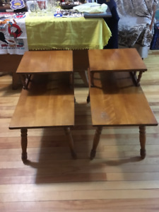 2 Solid Maple End Tables