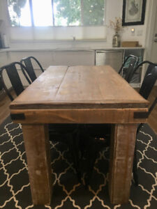 Solid and custom wood kitchen table. Perfect for condo/apartment