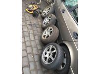 "4 stud multi fitting 15"" wheels 195/15 tyres"