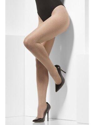 Fever Hosiery Nude Fishnet Tights Fancy Dress Christmas Halloween Burlesque