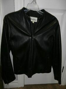Neiman Marcus Black Leather Jacket (Ladies)