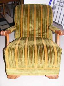 Vintage claw armed reclining chair