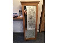 Solid oak mirror £30