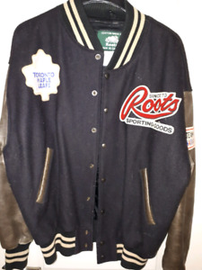 Mens Roots / Molson Canadian/ Toronto Maple Leafs jacket