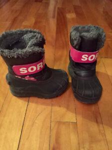 Bottes d'hiver pour petite fille taille 7 Toddler Winter Boots