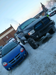 2004 Lifted Ram 2500 and Neon SX2.0
