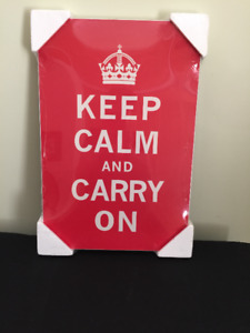"""""""Keep calm and carry on"""" Laminated Poster"""