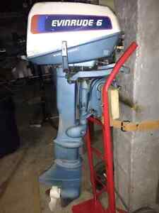 1976 Evinrude 6 hp long shaft outboar