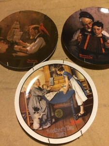 Norman Rockwell ~ 3 Plates