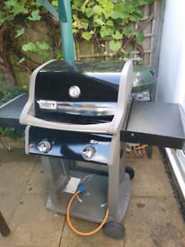 Weber Spirit gas barbecue double burner.