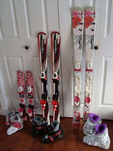 Children's Skis, Bindings, and Boots Package $150