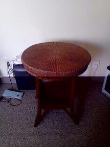 Unique rope weave table