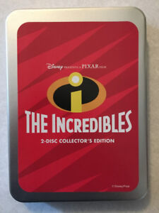 """""""THE INCREDIBLES"""" 2-Disc Collector's Edition DVD Set (Mint)"""
