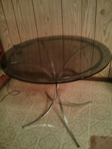 glass topped coffee table Moose Jaw Regina Area image 1