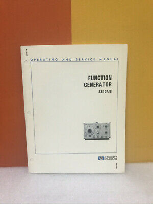Hp Function Generator 3310ab Operating And Service Manual
