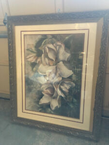 Large Art Picture and Frame