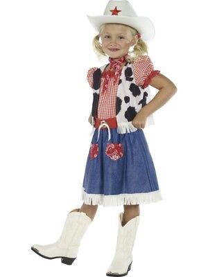 Smi - Karneval Kinder Kostüm Cowgirl Western Kleid Mädchen ()