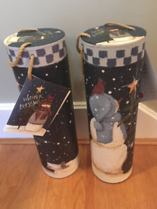 Christmas Bottle Boxes and Burlap Bottle Bags. Set Of 8