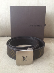 LOUIS VUITTON MONOGRAM LEATHER BELT - AUTHENTIC
