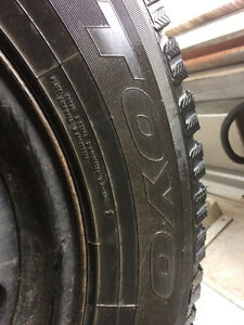 4 TIRES ON RIMS 235/65R17 TOYO OBSERVE GSI RIMS FIT SANTA FE SOR