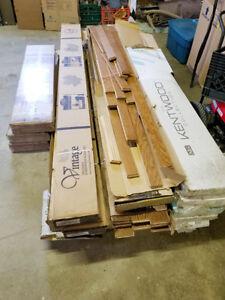Assorted engineered hardwood flooring. $40/case