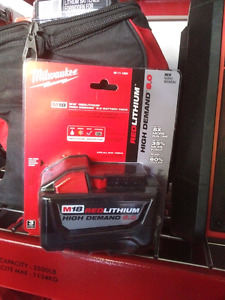 Milwaukee M18 9.0 amp hour battery, 3 available