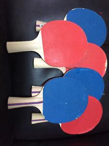 6 ping pong paddles