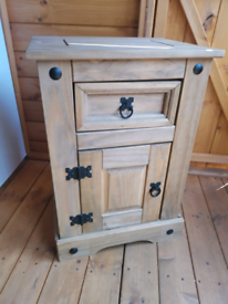 Mexican pine bedside cabinet