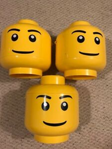 (3) Lego sort and store heads. Complete good used condition!