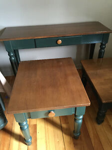 Nice coffee table set with matching end tables and sofa table