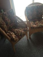 3 really nice wicker chairs for sale
