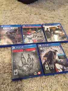 PS4 : Advanced warfare, The crew, Evolve, watch dogs, second son West Island Greater Montréal image 1