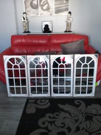 4 white window style mirrors