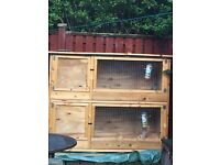 5 foot 2 tier rabbit hutch