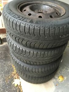 Michelin X Ice Snow Tires On Rims
