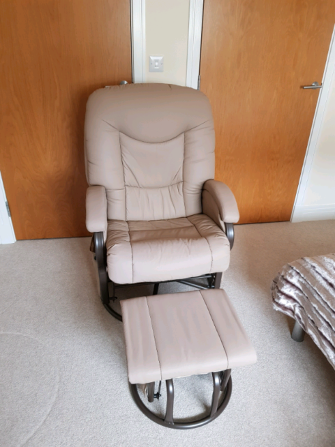 best service 7611f a566a BabyLo Cloud Nine Glider Reclining Chair & Footstool   in Lenzie, Glasgow    Gumtree
