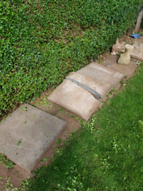 Concrete slabs x 9 free to collect