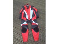 Leather biking suit - all in one. Size medium